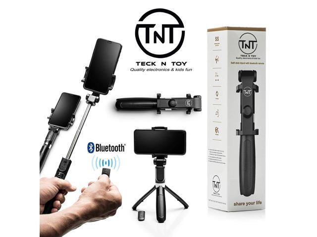 size 40 3c3c9 626a1 Extendable Selfie Stick, Bluetooth Remote Tripod - 4-in-1 Selfie Sticks  iPhone X, 8, Plus, 7, Plus, 6, Android, Galaxy - Compact, Travel-Size, ...