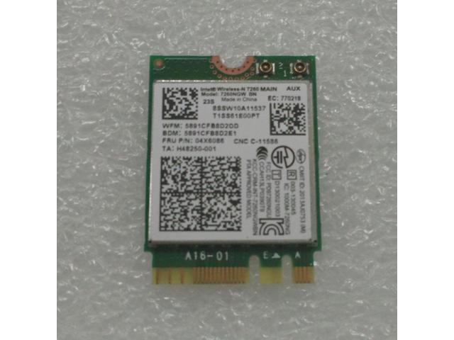 Lenovo Thinkpad W541 WiFi NGFF M 2 Card 7260NGW BN FRU 04X6086 - Newegg com