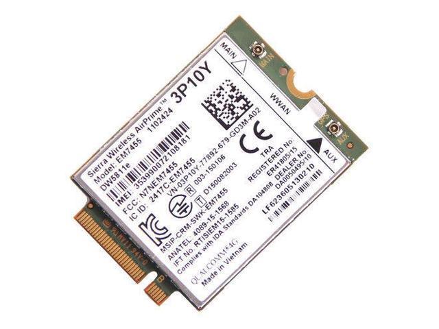 Dell Sierra EM7455 DW5811e 4G LTE Module Snapdragon X7 WWAN Card PN:3P10Y -  Newegg com
