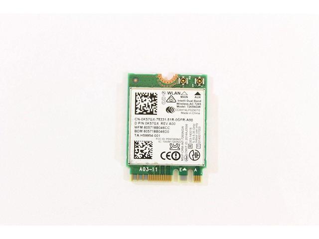 New Genuine Dell Inspiron 15-7558 Wireless Wifi Bluetooth Card 0K57GX K57GX  - Newegg com