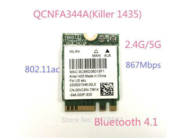 Atheros QCNFA344A Killer 1435 802 11ac Bluetooth 4 1 867Mbps BCM94350ZAE M2  NGFF WiFi Wireless Card better than BCM94352Z - Newegg com