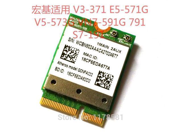 Atheros QCNFA222 NGFF 802 11a/b/g/n 2 4GHz/5GHz + BT 4 0 WiFi Card -  Newegg com
