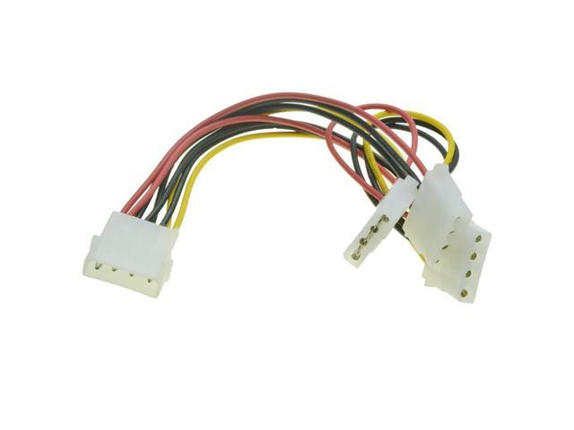 4 Pin Molex Power Supply Extension Cable 1 to 6 Port Multiplier IDE Splitter