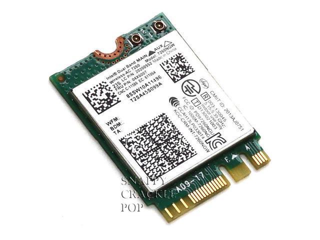 Lenovo Thinkpad T440p Intel Dual Band Wireless AC Bluetooth 4 Card 7260NGW 7260