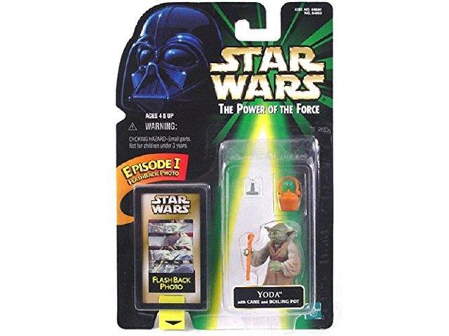 Star Wars Power of the Force Yoda with flash back photo
