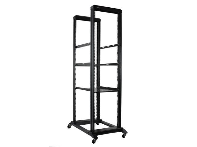 "NEW 15U 4 Post Open Frame 19/"" Server//Audio Data Steel Rack 32/"" Deep"