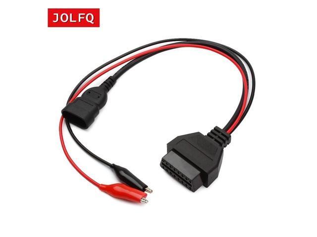 For Fiat 3 Pin Alfa Lancia to 16 Pin OBDII OBD2 obd-II connector Adapter  Auto Car Cable obd for fiat 3pin Diagnostic Cable - Newegg com