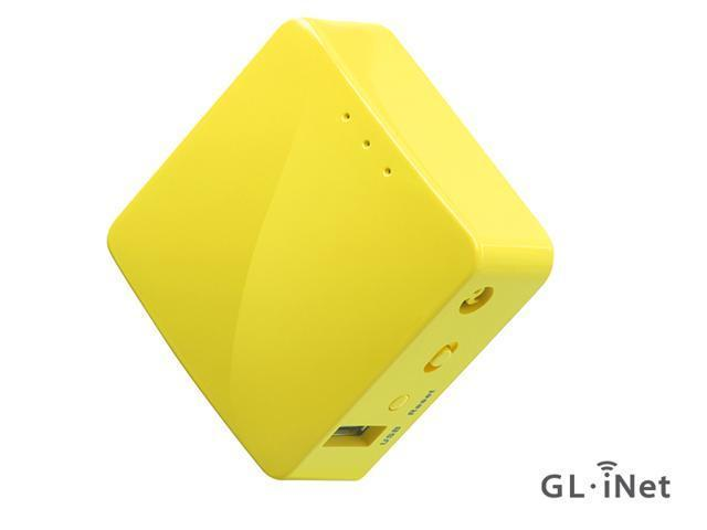 GL.iNet GL-MT300N-V2 Mini Travel Router, Repeater Bridge, 300Mbps High Performance, 128MB RAM, OpenVPN Client