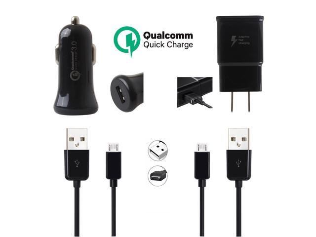 Original 4in1 Fast Charger Set Car+Wall+Micro USB Cable For ZTE Grand X Max  Black - Newegg com