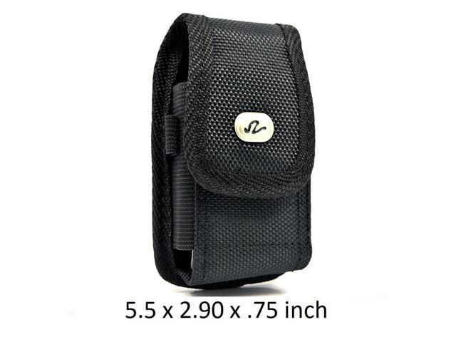 more photos 80204 4a00f Large Size Vertical Rugged Nylon Canvas Carrying Case with Metal Belt Clip  & Loop Compatible with Sony Xperia XZ1 Compact Devices - (Fits With ...