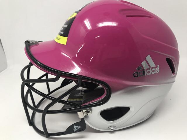 7a392fc58 New Adidas BTE00311 Triple Stripe Softball Batting Helmet Pink/Gray 6 3/8-7  3/8 - Newegg.com