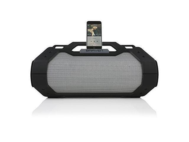 BRAVEN BRV-XXL Large Portable Wireless Bluetooth Speaker  [Waterproof][Outdoor] Built-In 15,600mAh Power Bank USB Charger - Black /  Titanium -