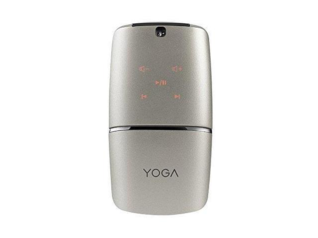 Lenovo Yoga Mouse, Silver, Ultra slim 13 5mm, 180 degree rotatable hinge,  2 4G or Bluetooth 4 0 wireless connection, Multilayer adaptive touchpad,