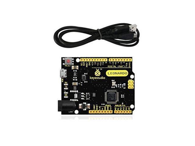KEYESTUDIO Leonardo R3 Development Board with USB Cable for Arduino -  Newegg com