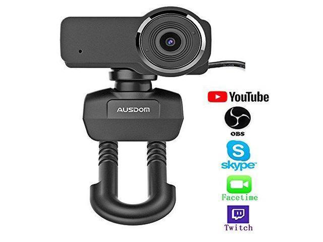 Ausdom HD Streaming Webcam, Widescreen Full HD 1080P Video Calling and  Recording Web Camera with Built-in Noise Reduction Microphone, PC or Laptop