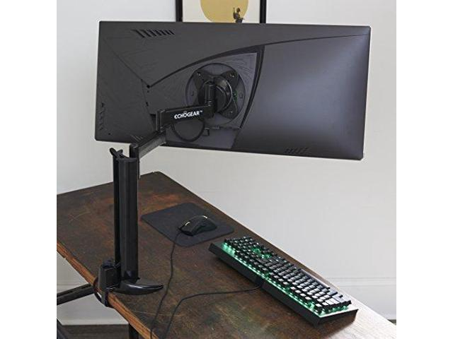 ECHOGEAR Single Monitor Desk Stand for Ultra-Wide Monitors up to 34