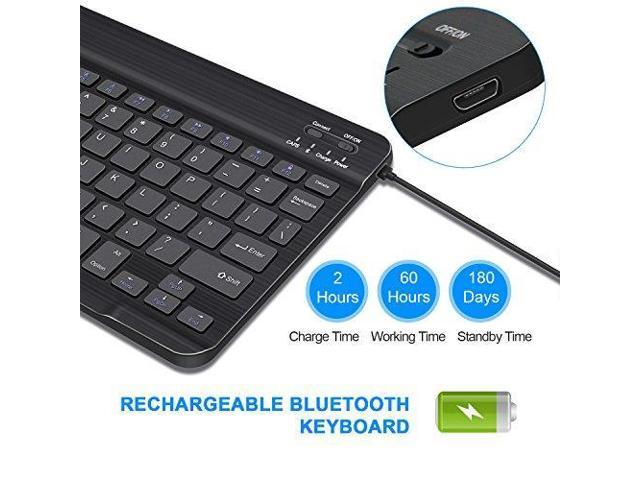 Tablet Accessories 9.76 inch Wireless Keyboard Black Tsmine ...