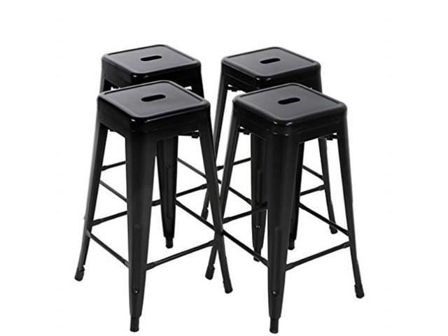 Prime Fdw Bar Stools Metal Counter Height 30 Industrial Stackable Modern Backless Indoor Outdoor Kitchen Seat Dining Chairs Set Of 4 Newegg Com Caraccident5 Cool Chair Designs And Ideas Caraccident5Info