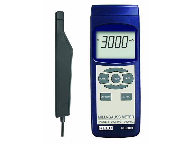 REED GU-3001 Electromagnetic Field (EMF) Meter, milliGauss (mG)/  microTesla(µT) - Newegg com