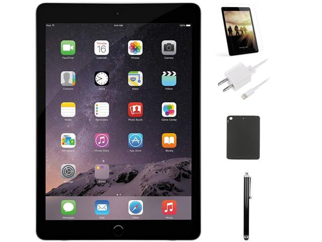 """Apple iPad Air 9.7"""" Tablet Case and Stylus Bundle 16GB Space Gray"""
