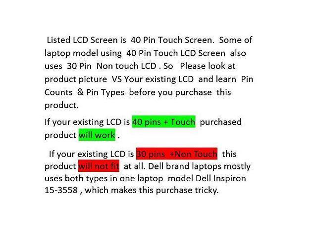 Au Optronics 15.6 Slim Touch Screen B156XTK01.0 WXGA LED Backlit Glossy Finish 40-PinC Grade PC Parts Unlimited B156XTK01.0NT-CC Grade NO Touch