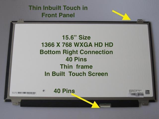 "BOEHYDIS NT156WHM-N10 LAPTOP LED LCD Screen 40 PIN 15.6/"" WXGA HD Bottom Right"