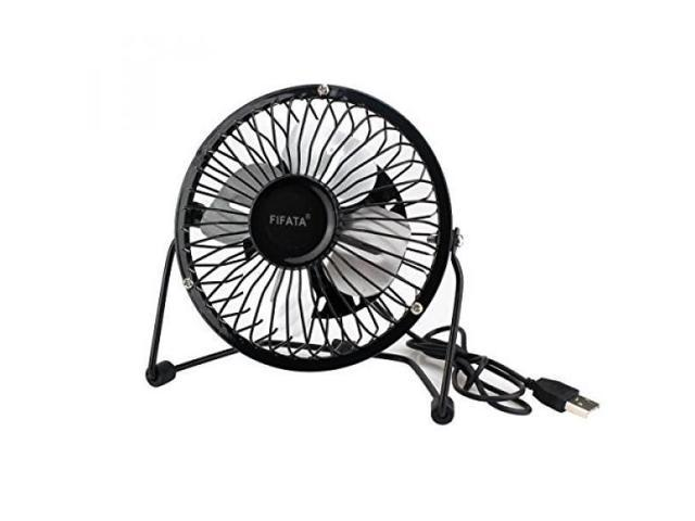 FIFATA Mini USB Table Desktop Personal Fan With 360 Degree Rotation and 3 9  Foot USB Cable Ultra Quiet and Strong Wind Fan (Black) - Newegg com