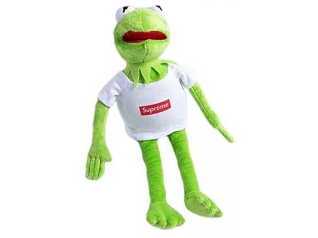 Kermit Wearing Supreme Plush Toy - Kermit The Frog From Sesame
