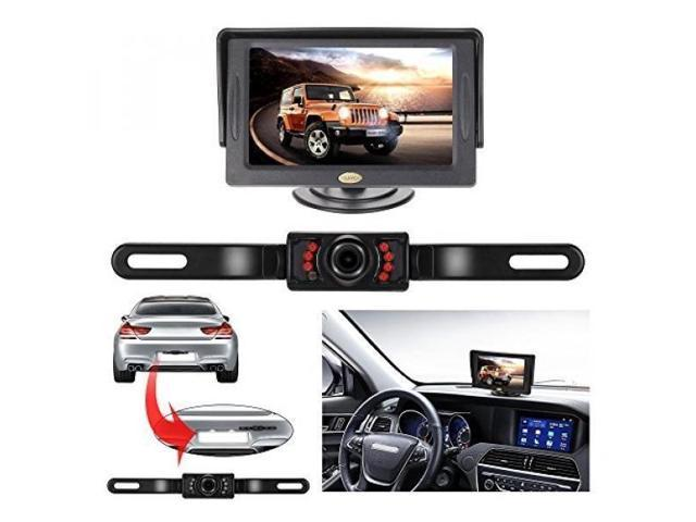 Car Rear View Reverse Backup HD Parking Camera License Plate IR Night Vision Kit