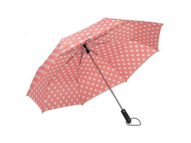 4751a272e04a ALMM ZKDT Cute Polka Dots Tri-fold Travel Umbrella Compact Windproof  Portable Umbrellas for Men Women and Kids (Pink) - Newegg.com