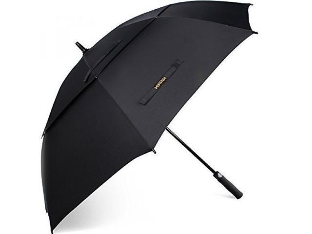 b8b959f7d9b3 Hippih 62 Inch Automatic Open Golf Umbrella Extra Large Oversize Double  Canopy Vented Windproof Waterproof Stick Umbrellas with Black Carrying  Sleeve ...