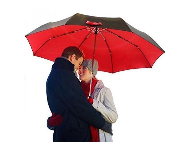 fe82a128f79e GOOBAT Auotmatic Golf Umbrella, Folding Compact Travel Umbrella Double  Layer Big Travel Umbrella for Car and Outdoor Use, Windproof and UV Proof,  Auto ...