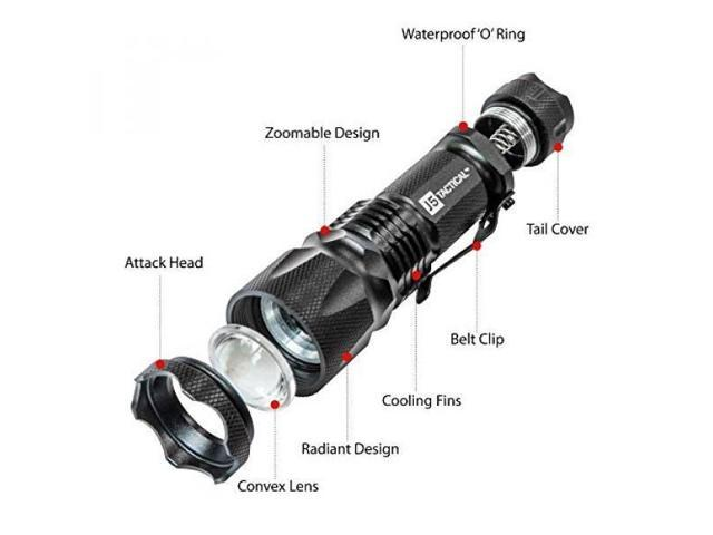 Black J5 Tactical J5-V2 750 Lumen Flashlight