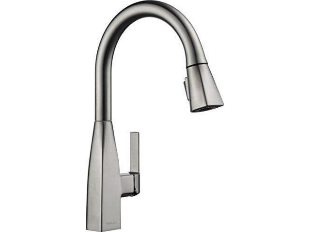 Peerless P7919LF-SS Xander Single Handle Pulldown Kitchen Faucet, Stainless