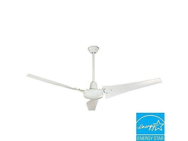 Super Hampton Bay Ceiling Fan 60 In White Industrial Fan With Energy Star Rating 92856 Wall Switch Patented High Efficiency Blades Alphanode Cool Chair Designs And Ideas Alphanodeonline