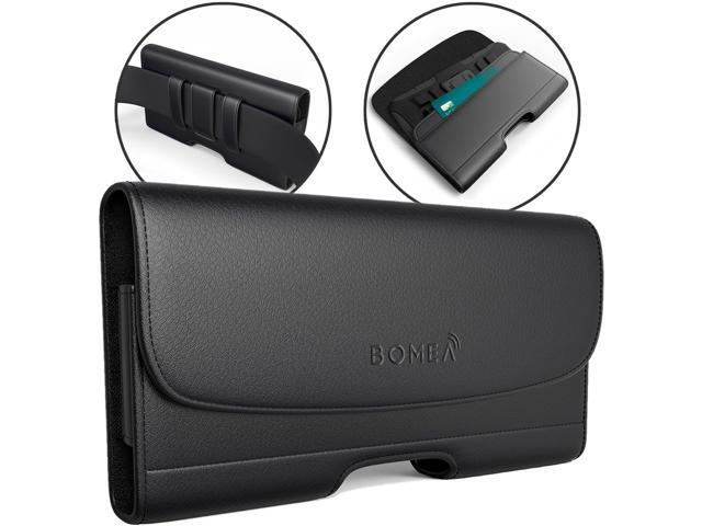 online store faf5a e569c Bomea Samsung Galaxy S10 Plus Holster, Galaxy S9 Plus S8 Plus Belt Holster  Case with Belt Clip, Leather Cellphone Pouch w/Credit Card Holder for ...