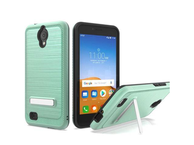 premium selection 3d990 24789 AT&T AXIA Case, ATT QS5509A case, Androgate [Silk Series] Hybrid Matte  Defender Phone Case Cover with Kickstand for AT&T AXIA (Cricket Vision),  Mint - ...
