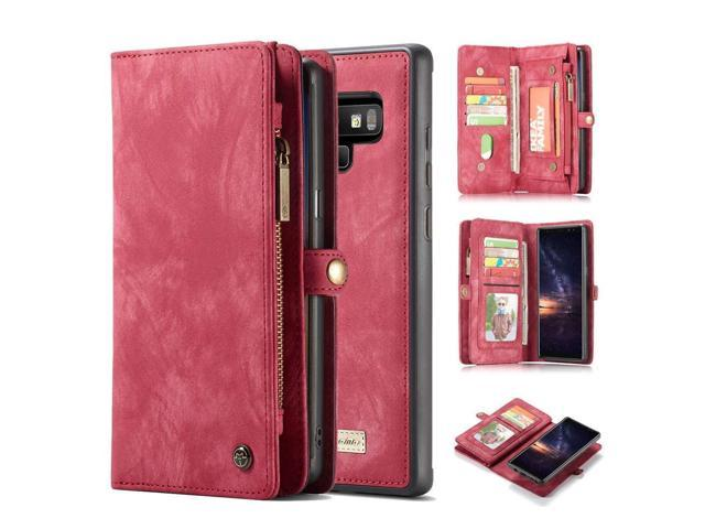 online retailer c3723 3bc9f Samsung Galaxy Note 9 Wallet Case - MOONORN Premium Leather Zipper ...