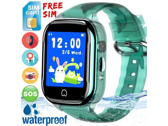 Kidaily Kids Smart Watch Phone - [Free SIM Card]2019 New Waterproof Kids  Smartwatch with GPS Tracker Cell Phone for Boys Girls SOS Anti-Lost Camera
