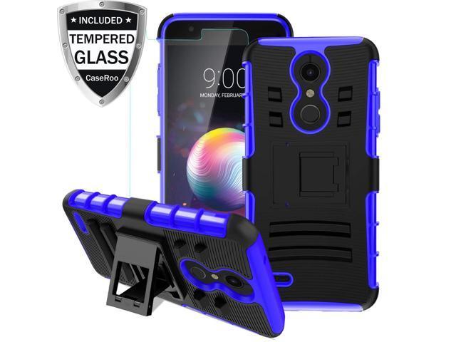 new product 16525 20e85 LG K30 Case,LG K10 2018/LG Xpression Plus/LG CV3 Prime/LG Harmony 2/LG  Phoenix Plus/Premier Pro LTE Case w/Tempered Glass Screen  Protector,Kickstand ...