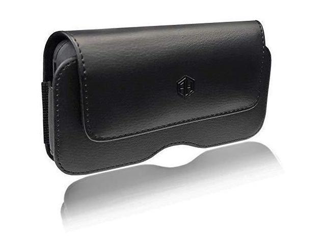 good ee09a 273c4 Premium iPhone Cell Phone Pouch, Compatible w/ [iPhone 6 6S 7 8 X XR]  Strong Magnet Holster iPhone 7 Leather Belt Case Fit with Otterbox Defender  ...