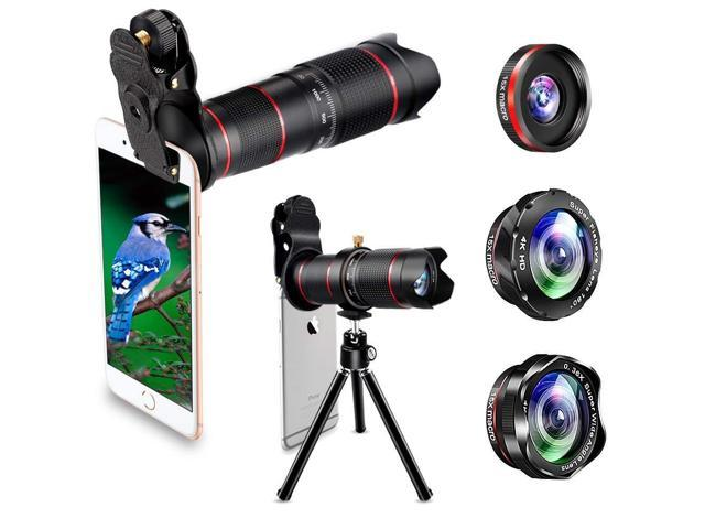 lowest price 2803b e5673 Phone Camera Lens, Best Keiyi 15X iPhone Camera Telephoto Lens kit Double  Regulation Lens Attachment with Tripod and Universal Clip Compatible with  ...