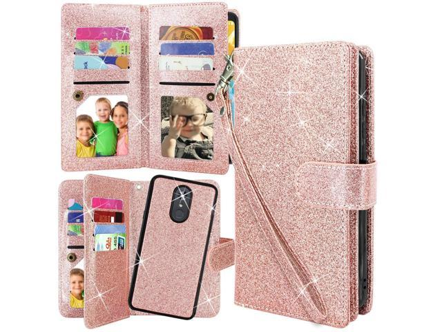 LG Stylo 4 Case, Harryshell Detachable Magnetic 12 Card Slots Wallet Case  Shockproof PU Leather Flip Protective Cover Wrist Strap for LG Stylo 4 2018