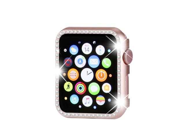 wholesale dealer c36e8 adb68 Henstar Compatible with Apple Watch Case 38mm, Compatible with iWatch Face  Bling Crystal Diamonds Plate Cover Protective Frame Compatible with Apple  ...