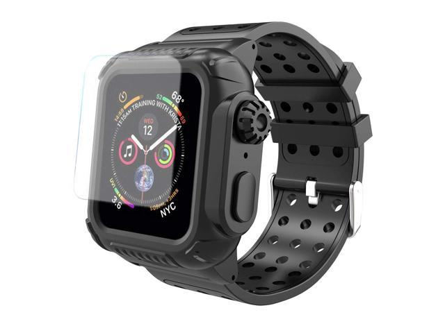 finest selection 34e10 8f14c Apple Watch 4 Case Band 44mm, Deekoy Built-in Screen Protector Full Body  Case, Soft Protective Bumper Cover with Strap Band for Apple Watch Series 4  ...