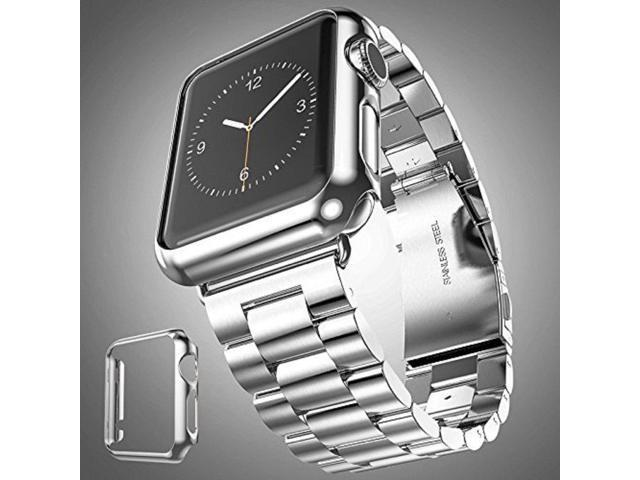 8e893bfe24d0ed ICE FROG iWatch Series 1 38mm Case, Electroplate Metal Plated PC Slim Hard  Protective Bumper HD Screen Protector Full Coverage Case Cover Shell for  Apple ...