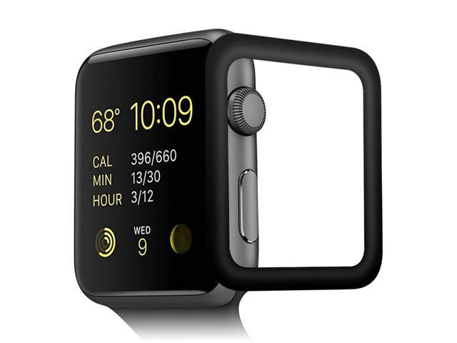 online store ff23b 0ba50 OMYFILM Apple Watch Screen Protector, Apple Watch Tempered Glass Screen  Protector [Soft Carbon Fiber Edge] [Scratch-Proof] Screen Protector for  Apple ...
