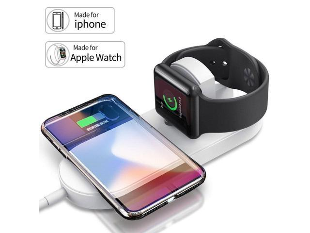 check out 26456 23379 VRURC Wireless Charger for Apple Watch, 2-in-1 Charging Pad Stand  Compatible for with for iPhone Xs/XS Max/XR/X/ 8/ Plus/Series 3/2/1(X2) -  Newegg.com