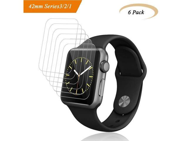 check out a302e 5630b [6-Pack] Fotbor for Apple Watch Screen Protector 42mm Series 3/2/1, HD  Clear Anti-Bubble Anti-Scratch Liquid Skin Lifetime Warrant Fit iWatch 42  mm ...