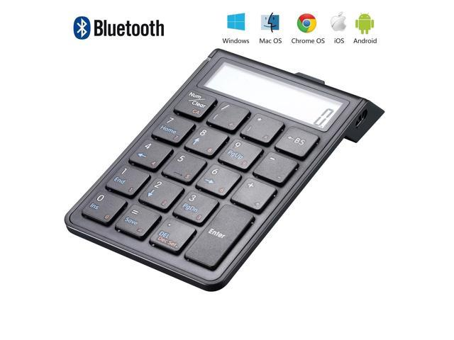 Sunreed Rechargeable Bluetooth Numeric Keypad and Calculator 2-in-1,  Wireless Number Pad Keyboard with 12-Digit LCD Display for Laptop Computer  Apple,